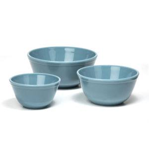 """Georgia Blue"" Glass Bowls - Set/3"