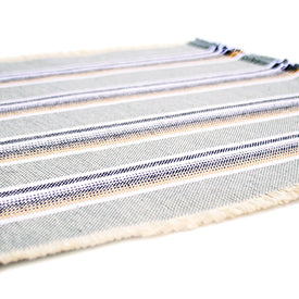 100% Casual Cotton Placemats - Pewter Set/2