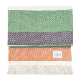 100% Cotton Sorbet Throw - Orange/Plum