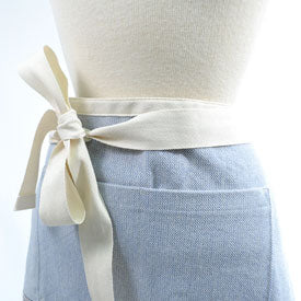 100% Cotton Cafe Apron - Lake/Cornflower