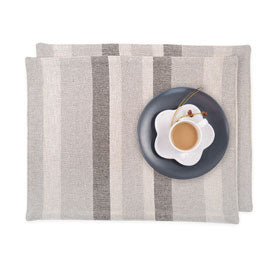 100% Cotton Placemats - Dark Linen Set/2