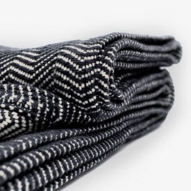 Black Herringbone 100% Cotton Blanket
