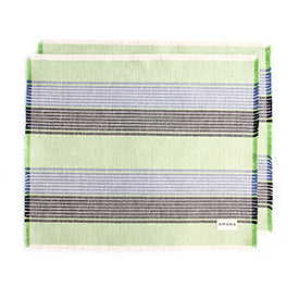 100% Casual Cotton Placemats - Green Set/2