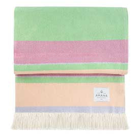 100% Cotton Sorbet Throw - Lavender/Pink