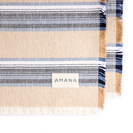 100% Casual Cotton Placemats - Tan Set/2
