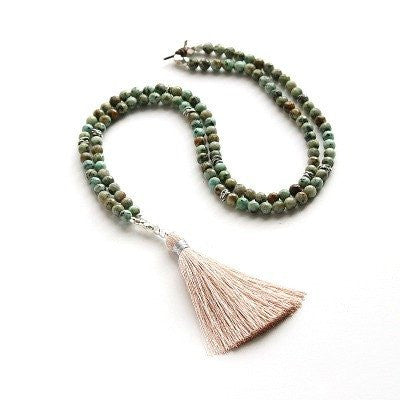 """Bloom"" Necklace - African Turquoise"
