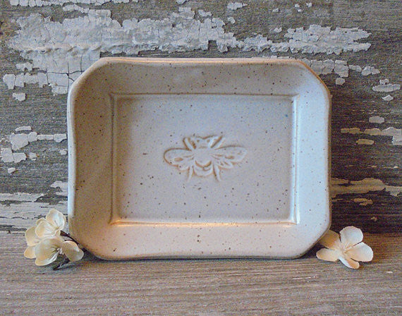 Pottery Bee Soap Dish/Catch-All