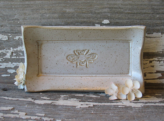 Pottery Bee Soap/Butter Dish