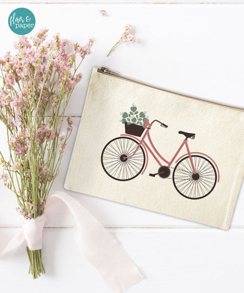 Bicycle Canvas Pouch