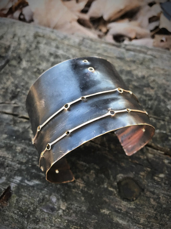 Brass Cuff w/Black Patina