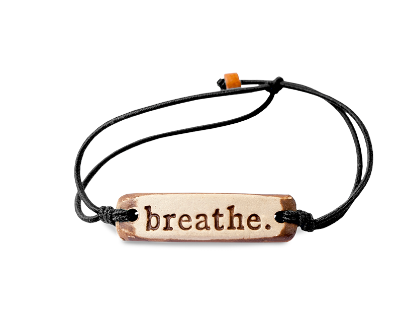 "Pottery Bracelet - ""Breathe"""