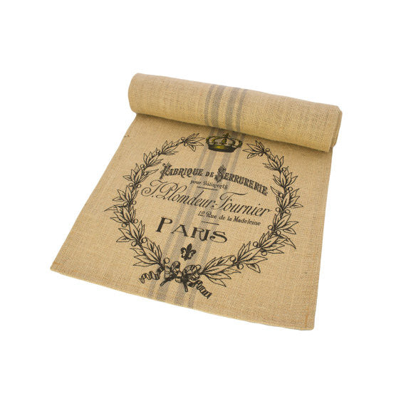 "Burlap Table Runner - 16"" X 72"""