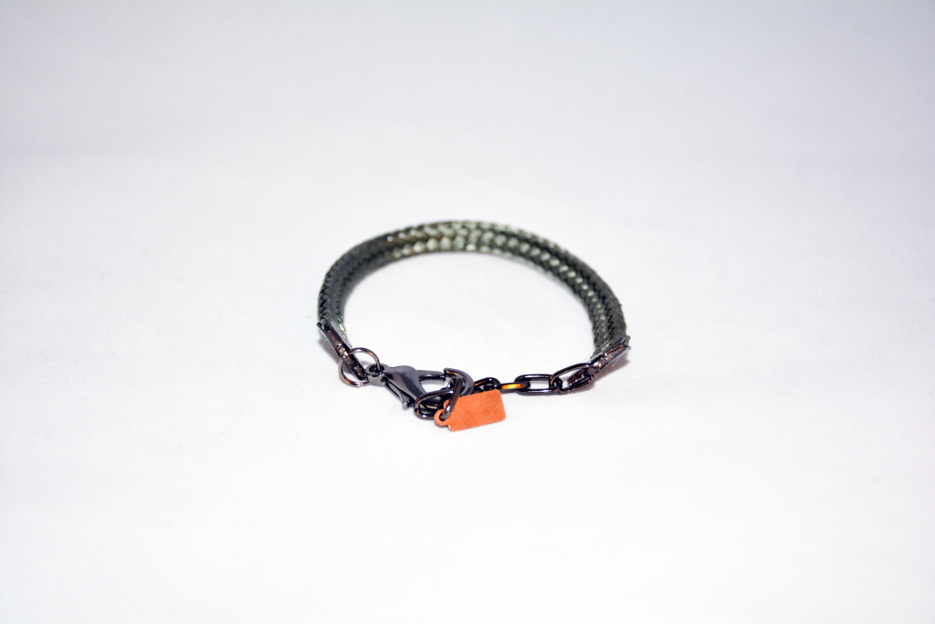 Bracelet made from parachute material