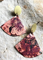 Copper Fan Earrings