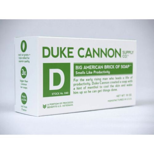 Duke Cannon Big American Brick Of Soap - Smells Like Productivity