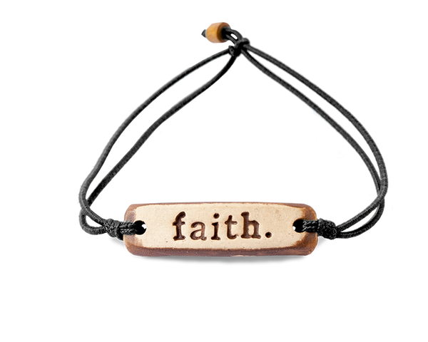 "Pottery Bracelet - ""Faith"""