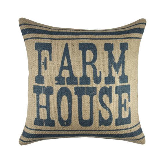 Farm House Burlap Pillow