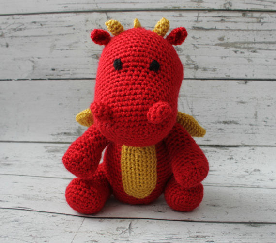 Crochet Dragon - Fire