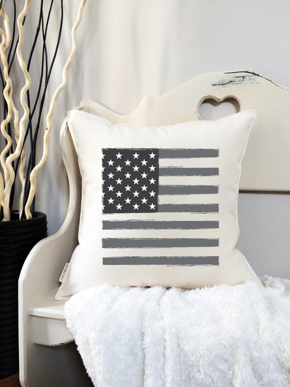 American Flag Pillow - 18""