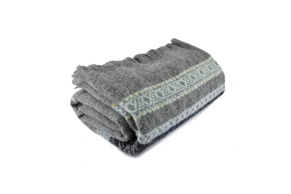"American-made 100% Wool Throw Blanket - Alpine pattern 56"" X 72"""