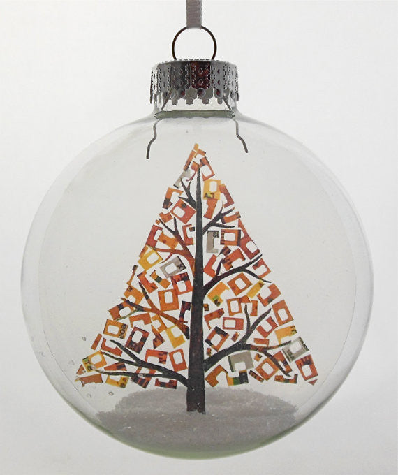 "Glass Ornament - ""Holiday Tree"""