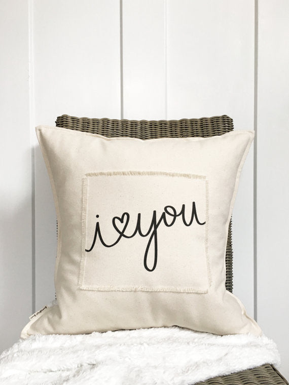 """I Love You"" Pillow - 18"""