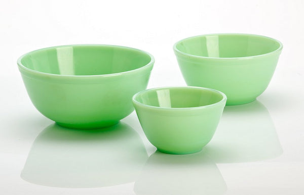 """Jade"" Glass Bowls - Set/3"