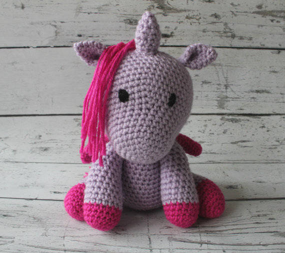 Crochet Unicorn - Lavender