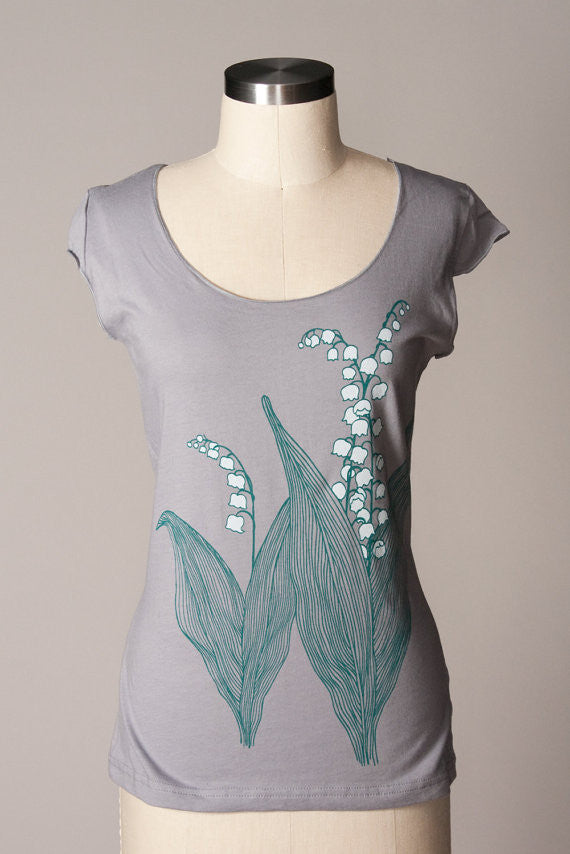 Lily Of The Valley Scoop Tee - Small