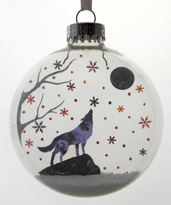 "Glass Ornament - ""Lone Wolf"""