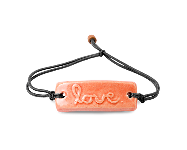 "Pottery Bracelet Cursive Sedona Sunset - ""Love"""