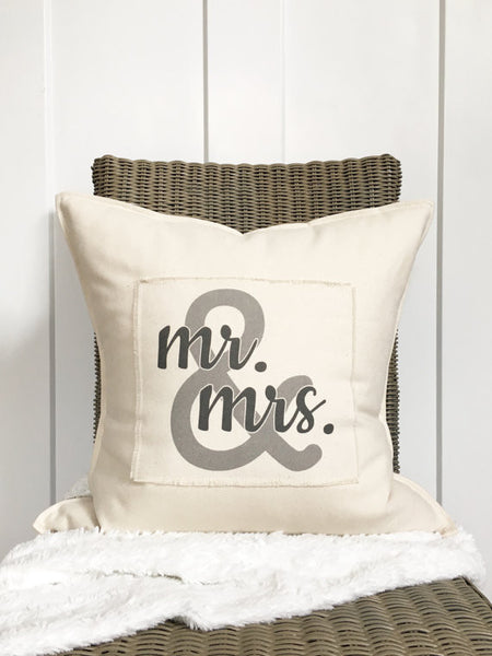 """Mr. & Mrs."" Pillow"