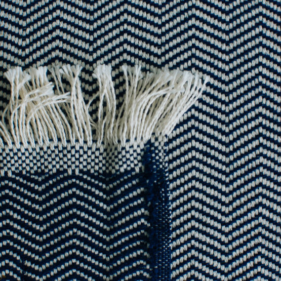 American-made 100% Cotton Throw - Herringbone