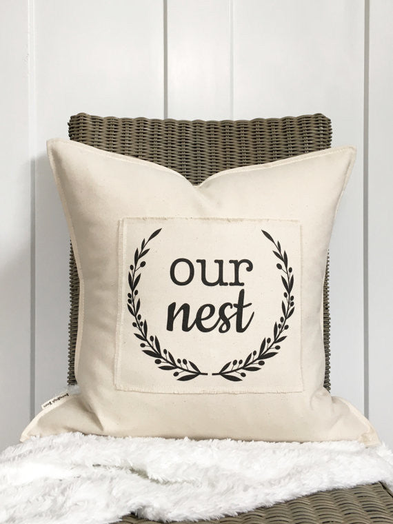 """Our Nest"" Pillow - 18"""