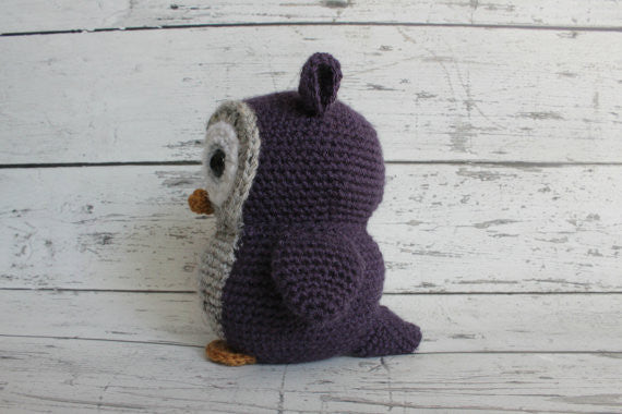 Crochet Owl - Purple