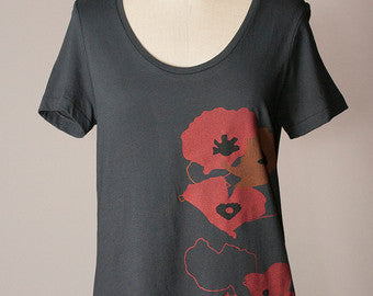 Poppy Shapes Relaxed Tee - Small