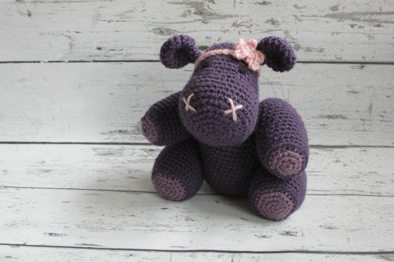 Crochet Hippo - Purple