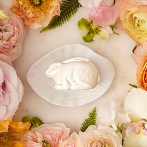 Rabbit Soap w/Porcelain Dish