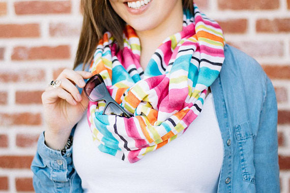 Rainbow Infinity Pocket Scarf