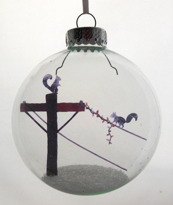 "Glass Ornament - ""Holiday Spirit"""