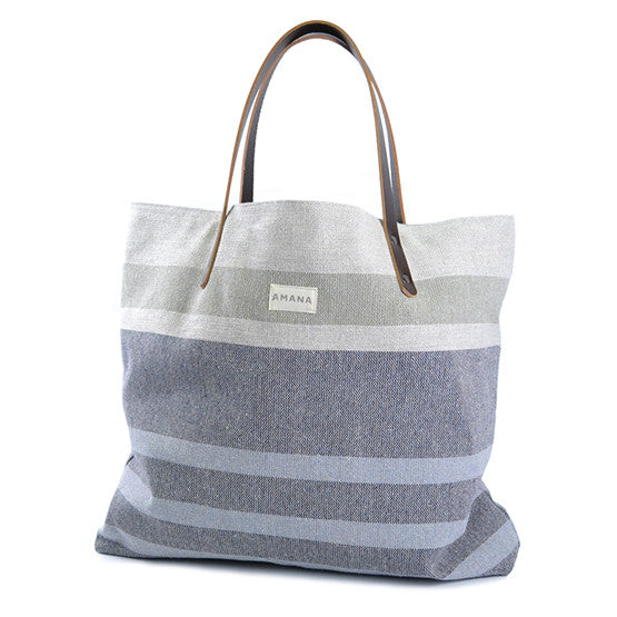 Tote - Eco2 Navy Marl South Stripe
