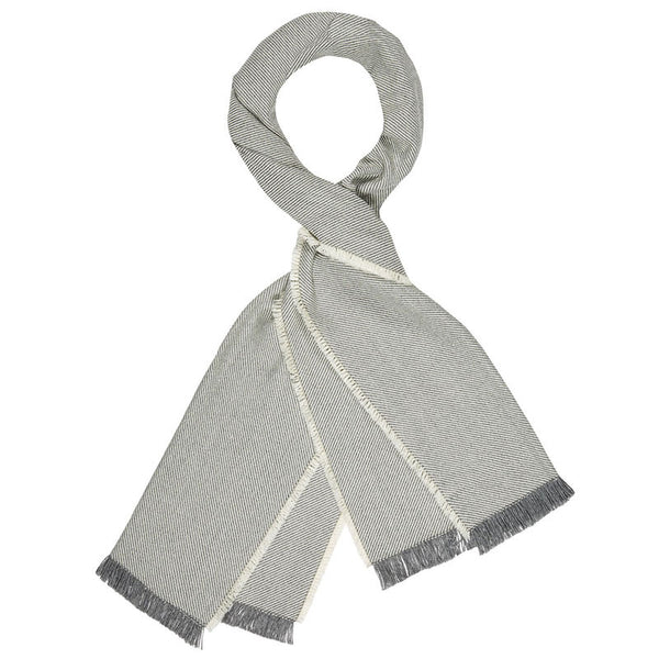 American-made 100% Merino Wool Scarf - Twill Ivory