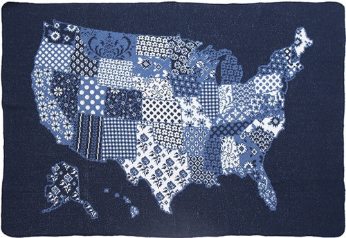 "Throw - US Map ""Quilt"""
