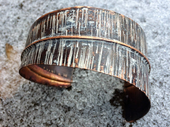 Copper Cuff w/White Patina