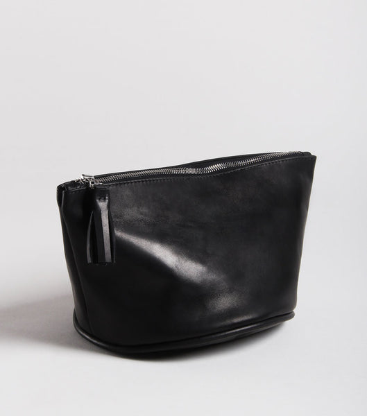 black cosmetic pouch