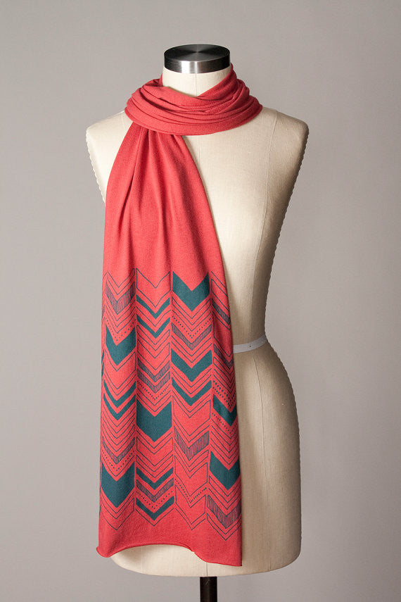 Cotton Chevron Scarf
