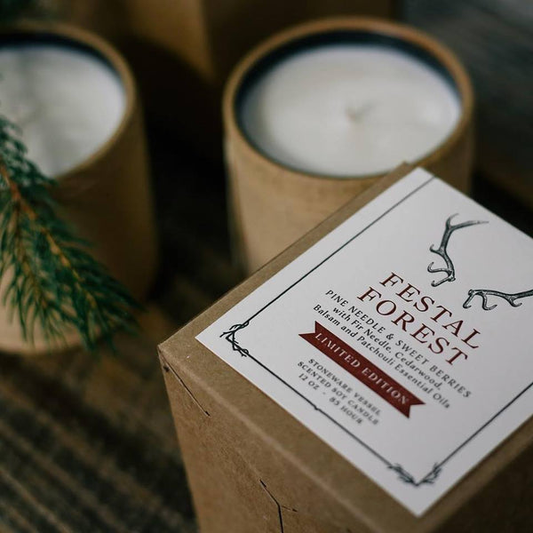 Festal Forest Candle