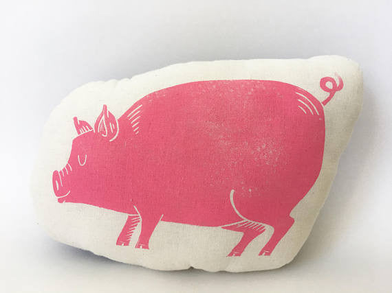 Hand-printed Pillow