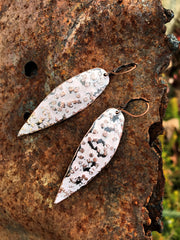 Pink Copper Spear Earrings