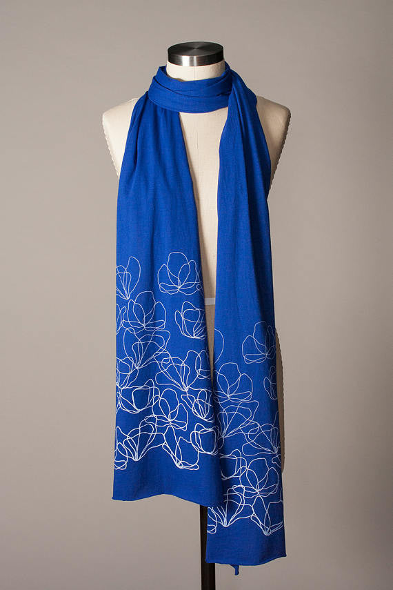 Cotton Poppies Scarf